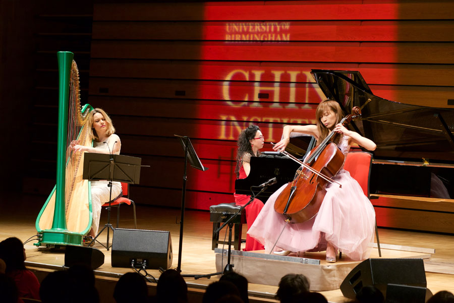 The University of Birmingham's China Institute has marked the Chinese New Year with the help of a trio of world-renowned musicians. [Photo: University of Birmingham]