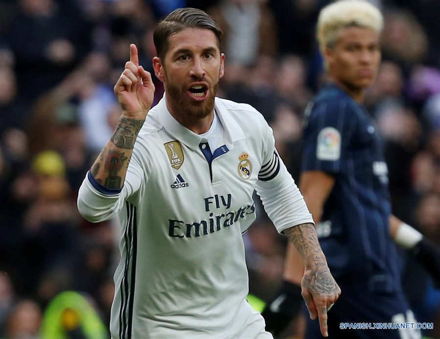Con doblete del capitán, Sergio Ramos, el Real Madrid derrotó hoy 2-1 al Málaga en partido válido por la jornada 19 de LaLiga. Con el triunfo, el equipo dirigido por el francés Zinedine Zidane aseguró el Campeonato de Invierno.(Xinhua/Reuters)
