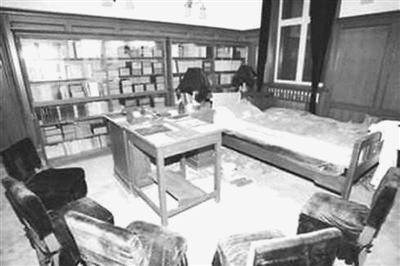 毛泽东的书房。(资料照片)