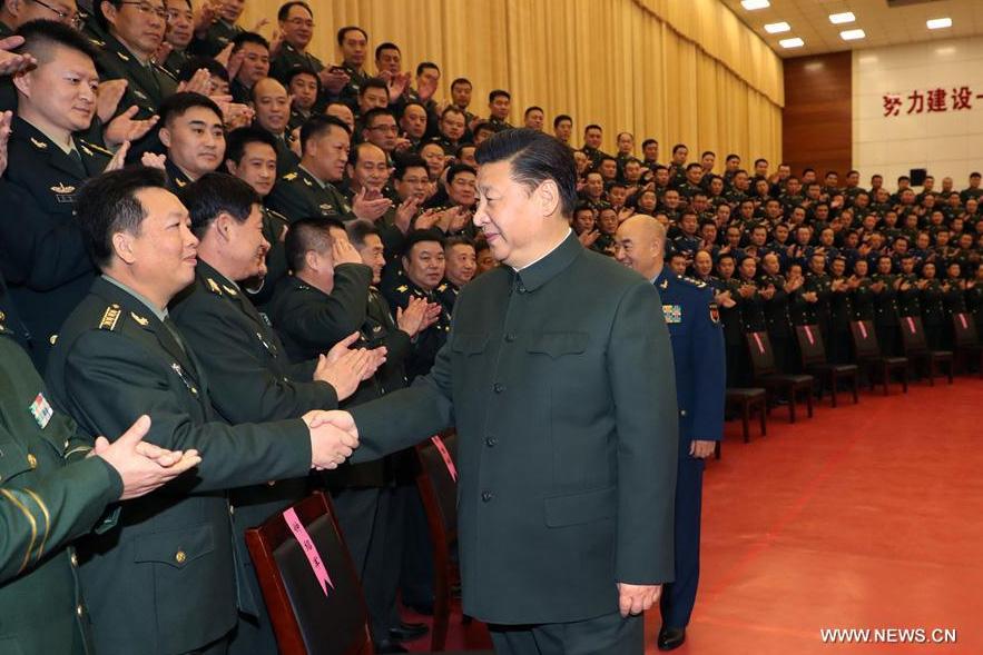 Xi Jinping appelle à des efforts continus pour bâtir une armée puissante