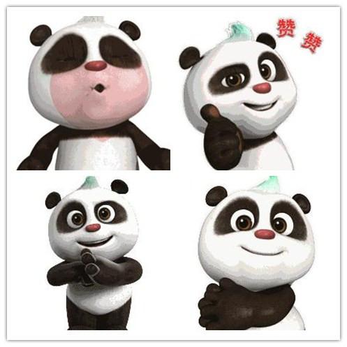 这么萌萌的熊猫和和,不来一套表情包收藏太可惜啦.