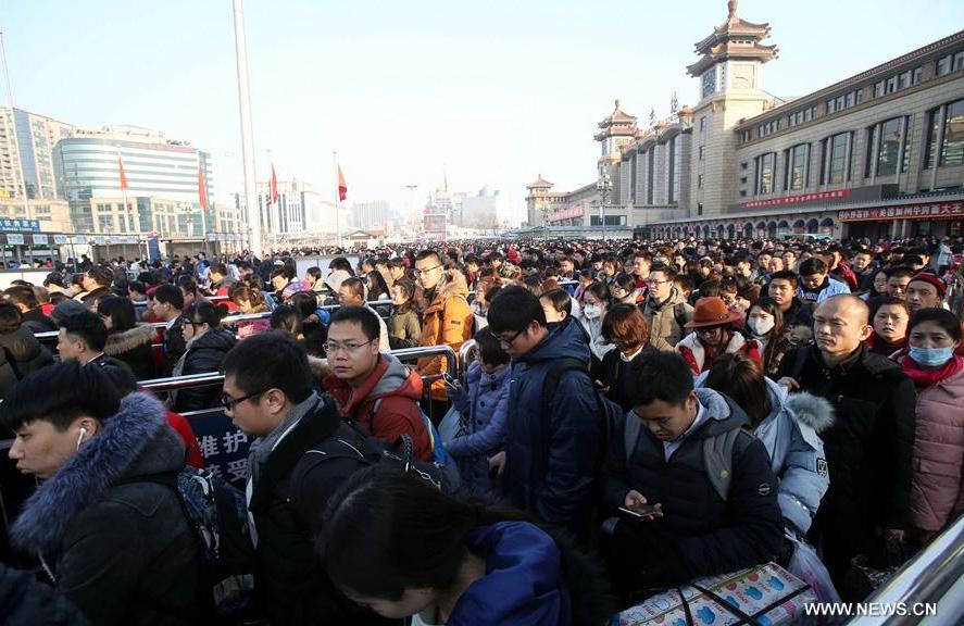 Chine : réseau ferroviaire très chargé à la fin de la fête du Printemps