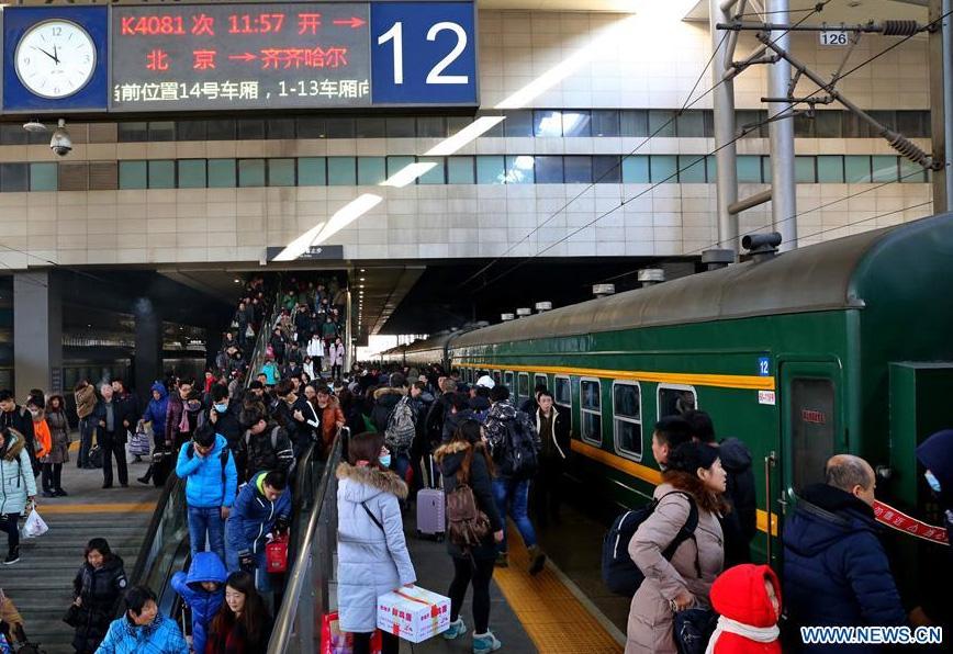 Chine : 52 millions de passagers ont voyagé en train durant la fête du Printemps