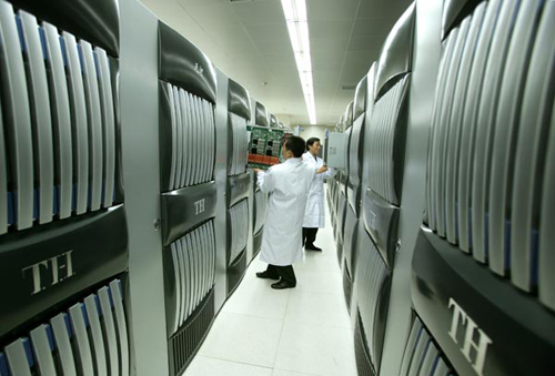 Using a Linux-based operating system, the Tianhe-One is one of the few Petascale supercomputers in the world.