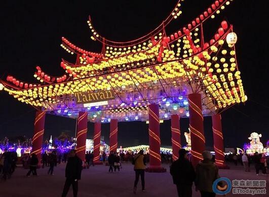 2017台湾灯会分为虎尾、北港两大灯区,是台湾最大规模灯会