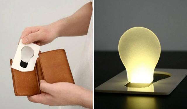 La carte professionnelle « ampoule »