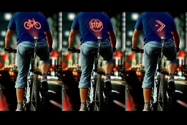 Un projecteur pour cyclistes