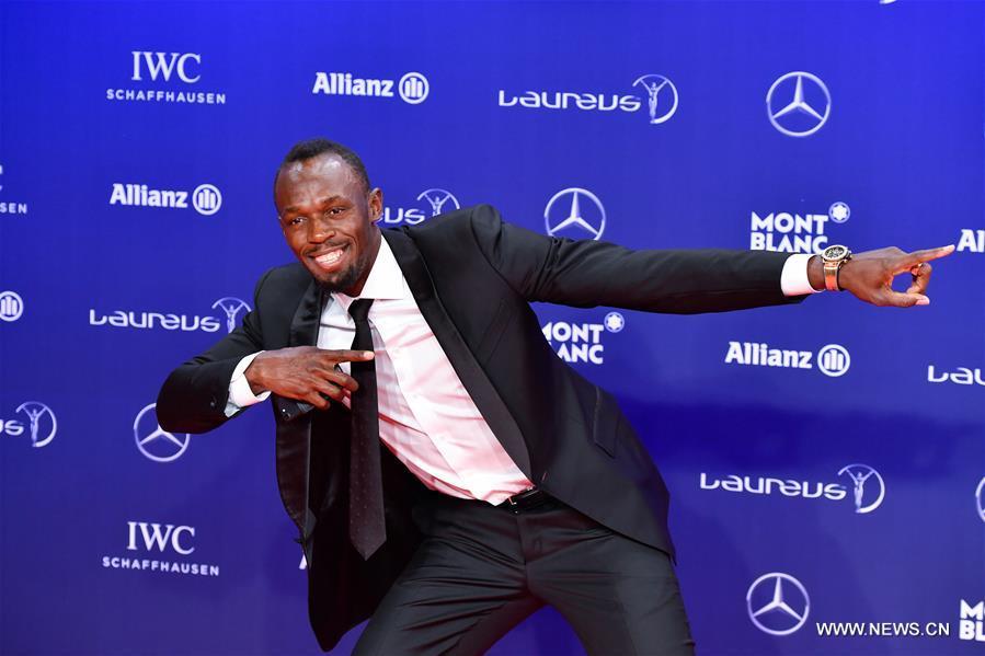 توج العداء الجامايكي أوسين بولن بجائزة لوريوس العالمية لأفضل رياضي