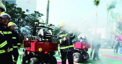 喷出的细水雾,具有节能环保的特点。