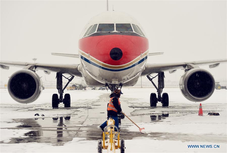 Circulation et vols perturbés par la neige dans le nord de la Chine