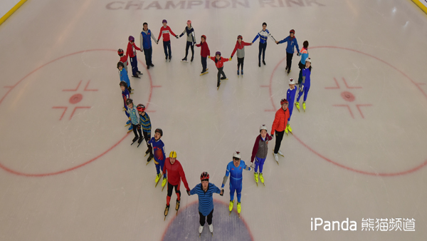 训练中的特奥会中国代表团速度滑冰队