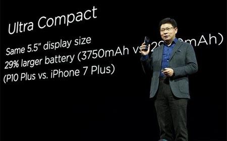 La compañía china Huawei, presentóo en Barcelona sus telefónos inteligentes P10 y P10 Plus en el Congreso Mundial de Móviles. (Xinhua/Lino De Vallier)