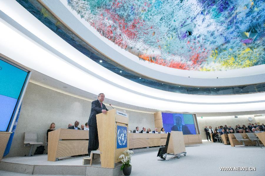 الأمين العام يعلن أسفه على انتهاكات حقوق الانسان خلال الصراعات ويدين التطرف