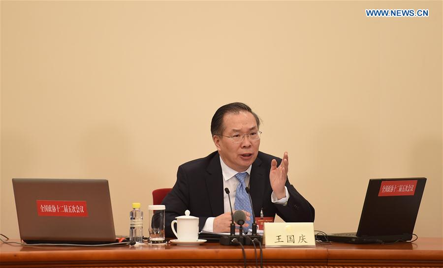 Wang Guoqing, spokesperson for the fifth session of the 12th Chinese People