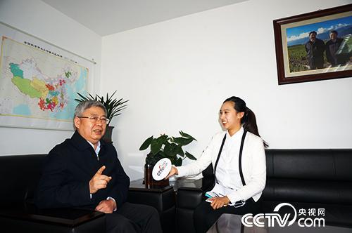 快乐飞艇主任刘永富接受央视网记者↓专访(央视网�记者郭城 摄)
