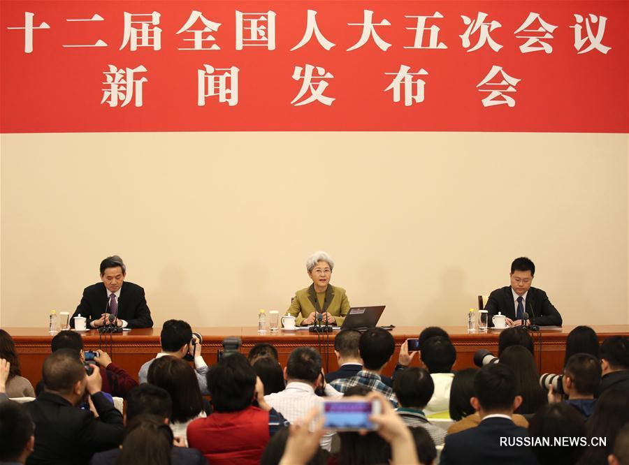 Китайским и зарубежным журналистам представили повестку сессии ВСНП