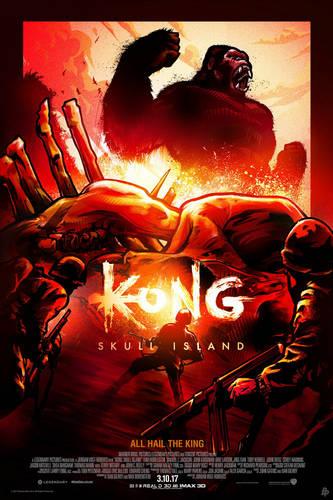 《金刚:骷髅岛》艺术海报