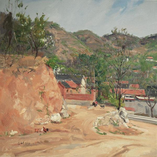 雨后的李子峪,作者:孙文刚