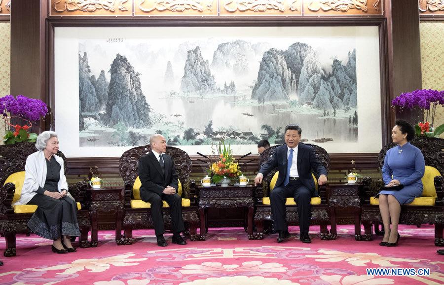 Le président chinois rencontre le roi du Cambodge