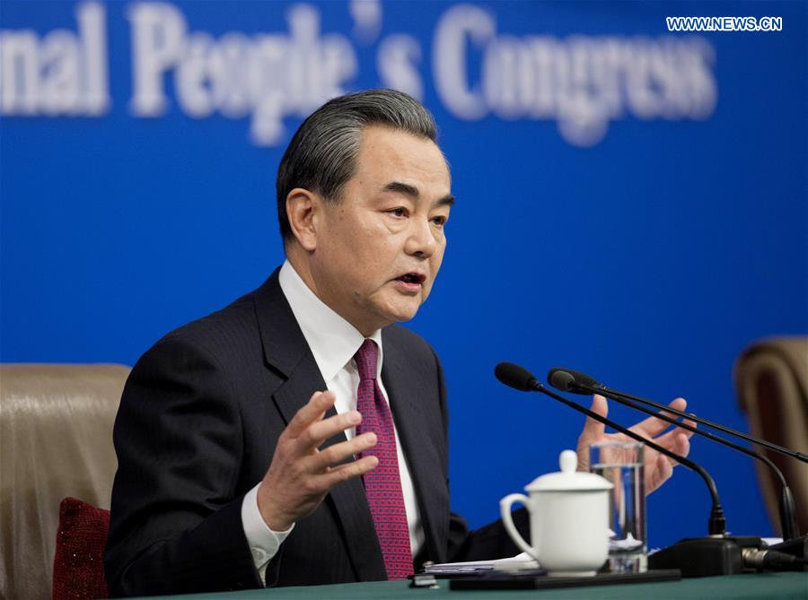Chinese Foreign Minister Wang Yi answers questions on China