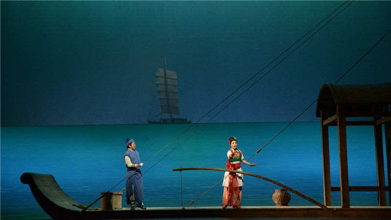 歌剧《运河谣》讲述了古老运河畔的一个爱情传说凌风/摄