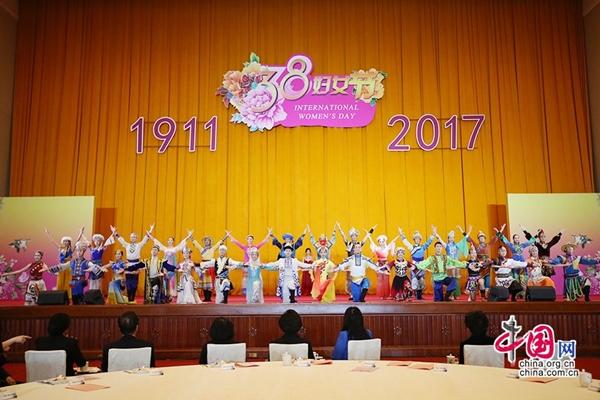 اتحاد النساء لعموم الصين يقيم حفل استقبال في بكين بمناسبة عيد المرأة العالمي
