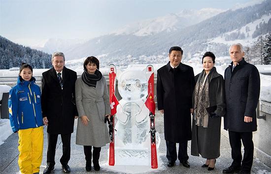 习近平主席和夫人彭丽媛访问瑞士