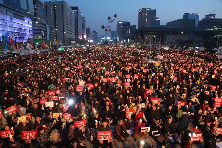 Demonstrators against South Korea