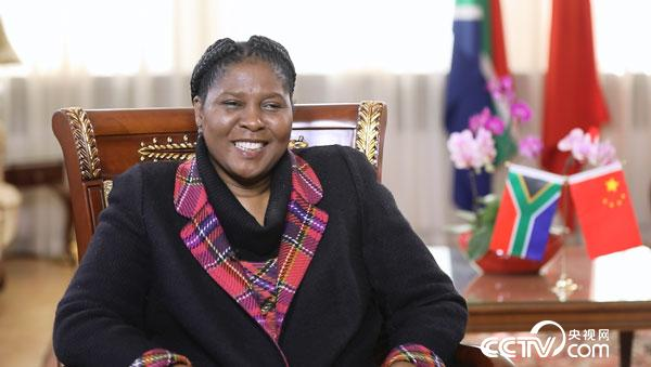 South African Ambassador to China Ms. Dolana Msimang in interview with CCTV.com