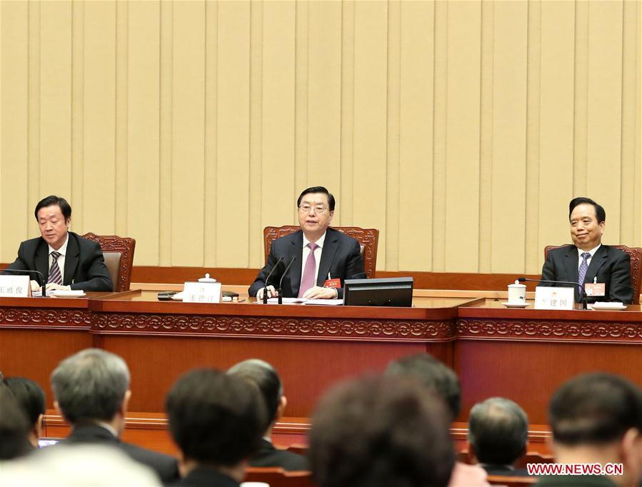 Zhang Dejiang, executive chairperson of the presidium for the fifth session of China