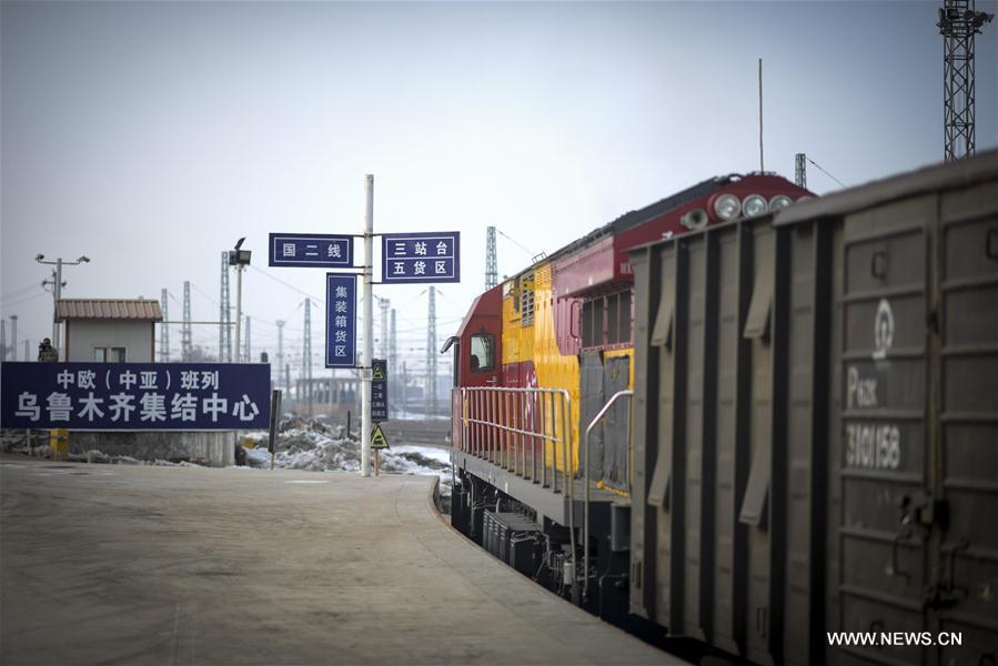 Freight train X9081 heading for Kazakhstan