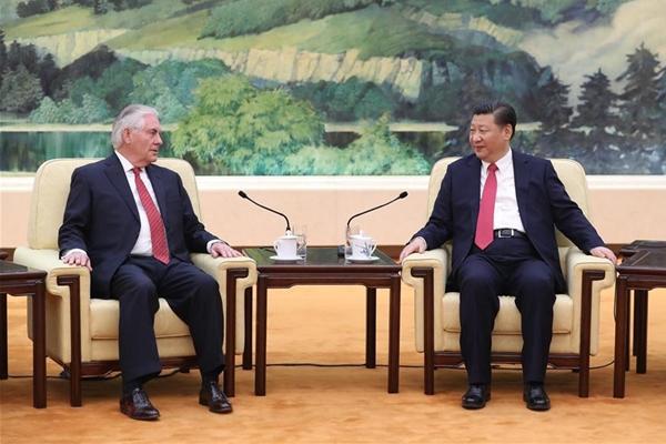 الرئيس الصيني يجتمع مع وزير الخارجية الأمريكي في بكين