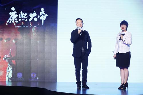 左:华夏视听传媒集团董事长蒲树林,右:曼荼罗影视创始人、董事长张语芯