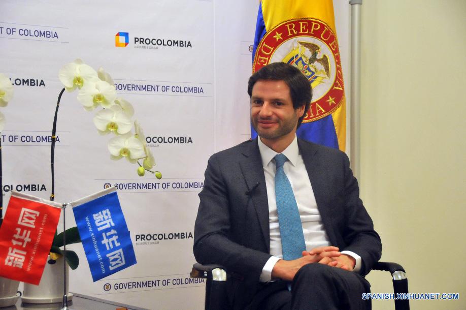 """""""Yo creo que para Colombia es muy importante seguir afianzando sus relaciones comerciales con China"""", dijo el Presidente de Procolombia Felipe Jaramillo en una entrevista concedida a Xinhuanet."""