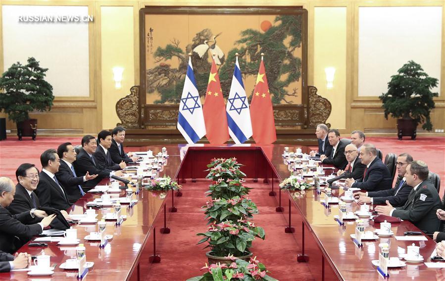 Ли Кэцян провел переговоры с премьер-министром Израиля Биньямином Нетаньяху
