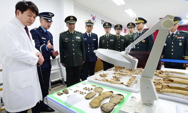 Les corps des soldats de la Guerre de Corée rapatriés