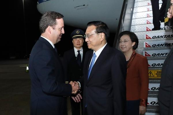 رئيس مجلس الدولة الصينى يصل إلى استراليا للقيام بزيارة رسمية
