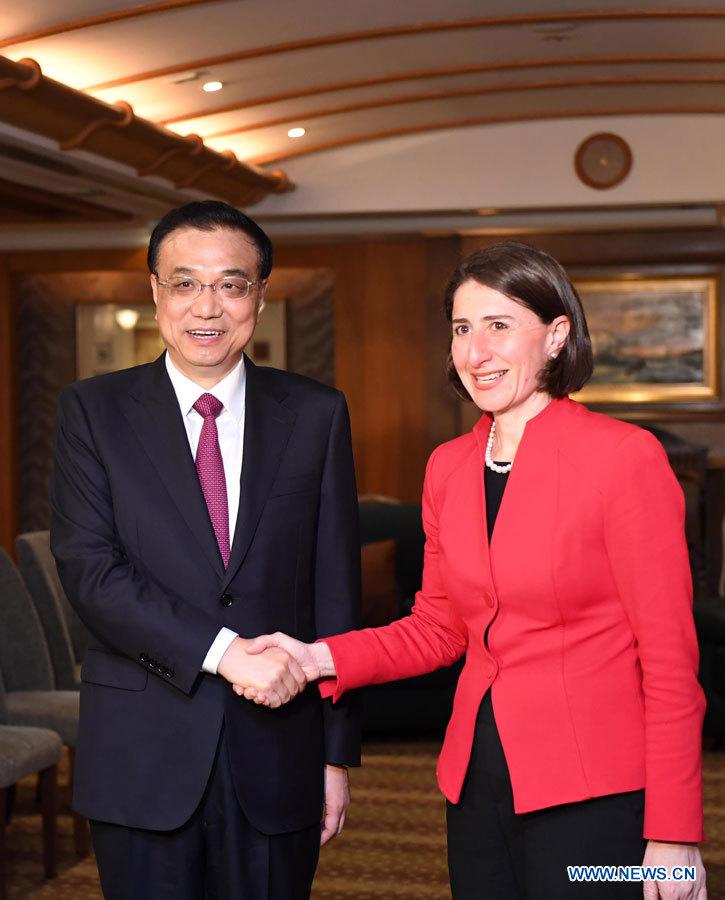 Le Premier ministre chinois demande le renforcement de la coopération avec la Nouvelle-Galles du Sud