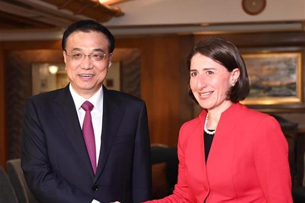 رئيس مجلس الدولة الصيني يحث على تعزيز التعاون مع نيو ثاوث ويلز