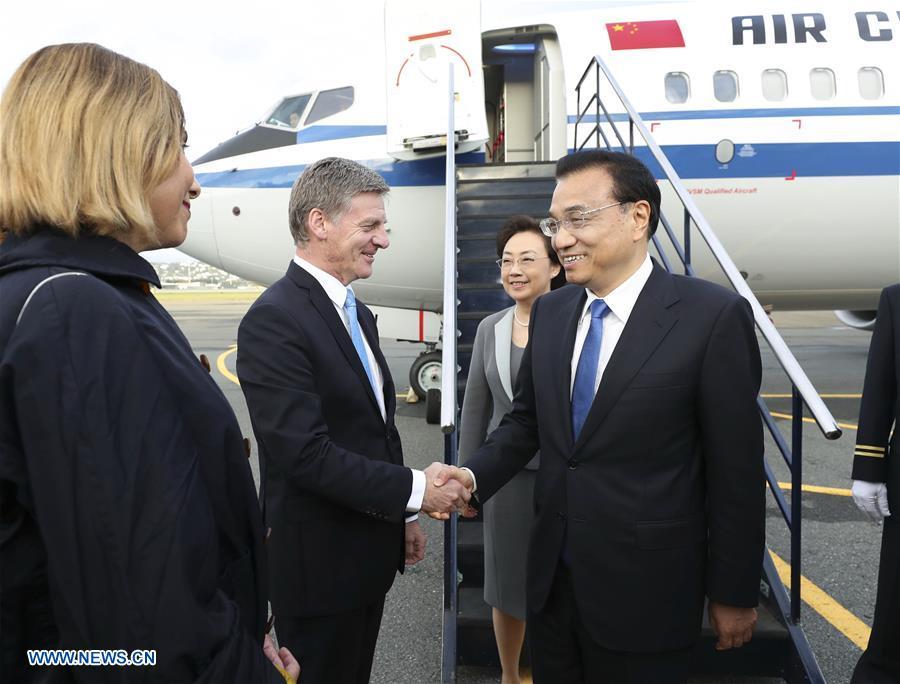 Le PM chinois en Nouvelle-Zélande pour une visite officielle