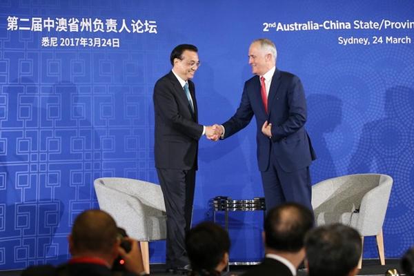 رئيس مجلس الدولة الصيني يحث على تعاون محلي أوثق مع استراليا