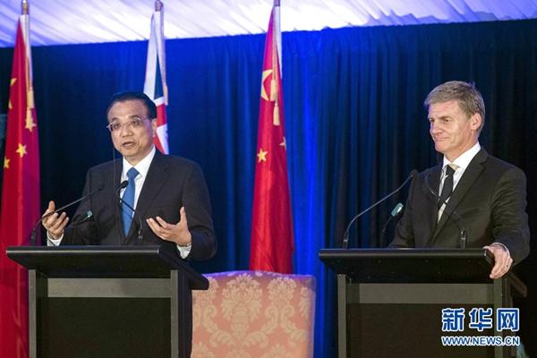 الصين ونيوزلندا تتفقان على بدء محادثات لتحديث اتفاقية التجارة الحرة في أواخر ابريل