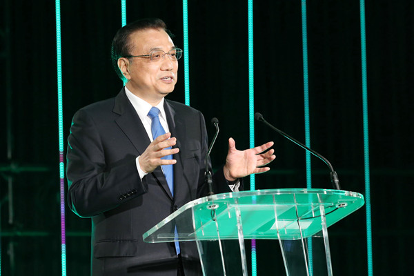 Premier Li Keqiang addressed a welcoming banquet with New Zealand's Prime Minister Bill English on March 28.
