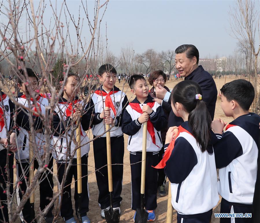 Xi Jinping participe à une activité de plantation d