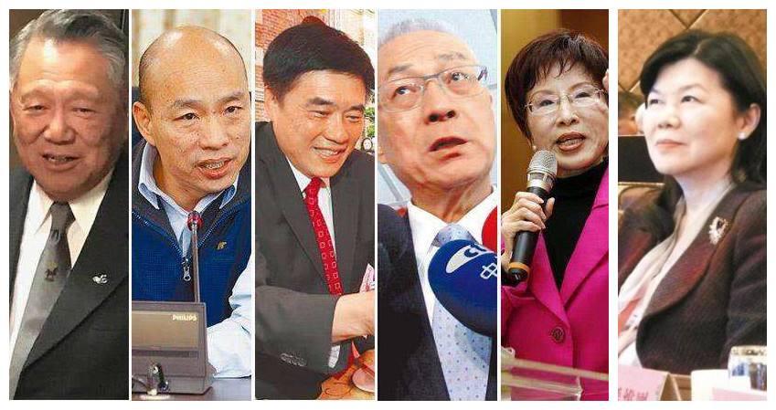 """国民党主席选举""""六强争霸""""态势激烈"""