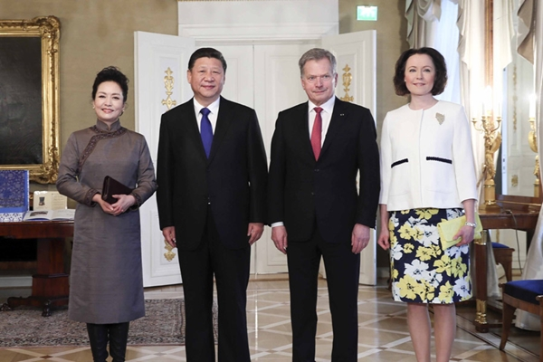 الصين وفنلندا تتفقان على دفع العلاقات وتعميق التعاون