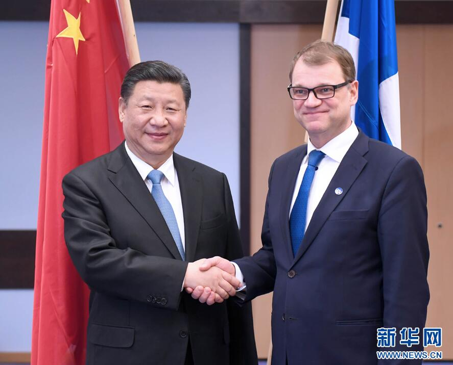 Le président Xi rencontre le Premier ministre finlandais