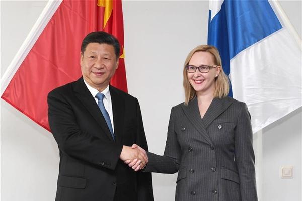 شى يحث البرلمانين الصينى والفنلندى على الحفاظ على التبادلات
