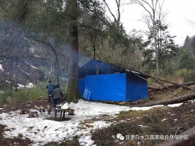 到达刘家坪区域的三岔河野外宿营地