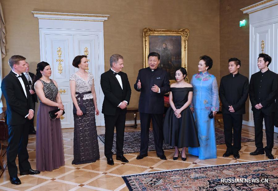 Си Цзиньпин и Саули Ниинисте встретились с китайскими и финскими фигуристами